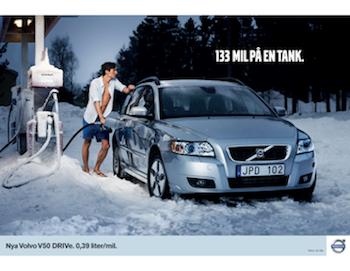 Volvo V50 DRIVe Gas Station